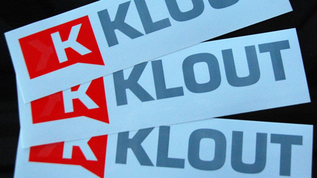 Klout stickers
