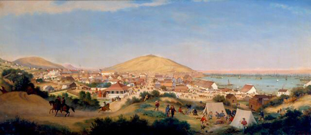 "San Francisco in 1849. Photo: <a href=""http://en.wikipedia.org/wiki/File:George_Henry_Burgess_-_San_Francisco_in_July,_1849.jpg"">Wiki Commons</a>"